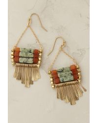 Anthropologie | Green Corfu Turquoise Earrings | Lyst