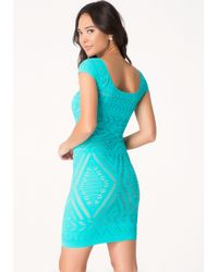 Bebe | Blue Tribeca Lace Dress | Lyst