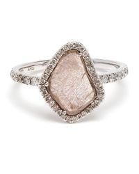 Kimberly Mcdonald - 18kt White Gold Diamond Slice Ring - Lyst