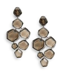 Ippolita | Gray Smoky Quartz Pavé Diamond Chandelier Earrings | Lyst