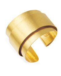 Herve Van Der Straeten | Metallic Double Ribbon Cuff Bracelet | Lyst