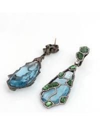 Arunashi - Blue Topaz Earrings - Lyst
