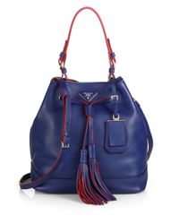 Prada | Blue Large Bucket Bag | Lyst