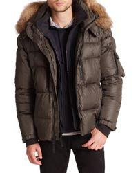 Sam. | Green Matte Mountain Fur-trimmed Puffer Coat for Men | Lyst