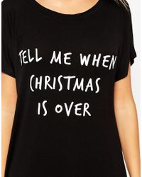 Adolescent Clothing - Black Its Over Christmas Gift Nightshirt - Lyst