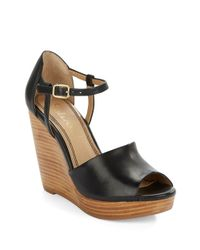 Splendid - Black Davie Leather Platform Wedge - Lyst