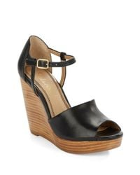 Splendid | Black Davie Leather Platform Wedge | Lyst
