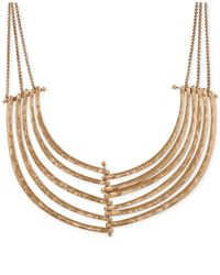 Lucky Brand | Metallic Gold-tone Multi-row Necklace | Lyst