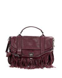 Proenza Schouler   Purple Ps1 Medium Fringed Leather Shoulder Bag   Lyst