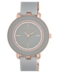 Anne Klein | Gray Crystal Dial Bangle Watch | Lyst