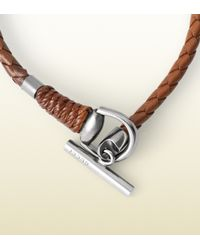 Gucci - Brown Leather Wrap Bracelet With Horsebit Toggle Closure for Men - Lyst