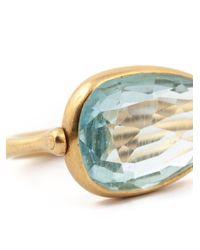 Marie-hélène De Taillac | Metallic Oval Aquamarine Ring | Lyst