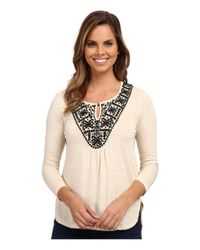 Lucky Brand | Natural Stitched Bib Top | Lyst