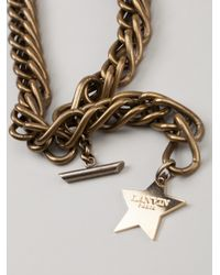 Lanvin - Metallic Necklace with Removable Brooch - Lyst