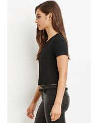 Forever 21 - Black Ladder-back Boxy Tee - Lyst