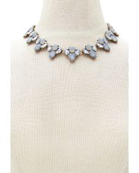 Forever 21 | Gray Faux Gem Statement Necklace | Lyst