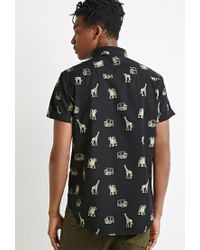 Forever 21 | Black Safari Animal Print Shirt for Men | Lyst