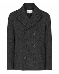 Reiss - Gray Boston Double Breasted Jacket for Men - Lyst