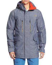 The North Face | Blue 'sherman' Hooded Waterproof Parka for Men | Lyst