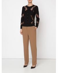 Nina Ricci - Brown Straight Leg Trousers - Lyst