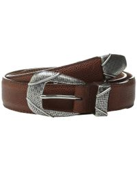 "Brighton - Metallic Branson Taper 1 3/8"" - 1 1/8"" Belt for Men - Lyst"