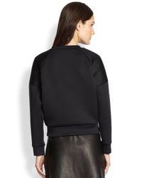 3.1 Phillip Lim Black Embellished Poodle Cropped Sweatshirt