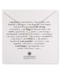 "Dogeared - Metallic I Am Brave Necklace, 18"" - Lyst"