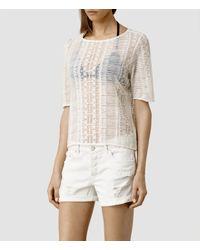 AllSaints - White Maren Top - Lyst