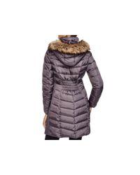 MICHAEL Michael Kors - Purple Coat - Ruched - Lyst