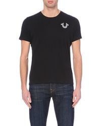 True Religion - Black Crafted With Pride Logo T-shirt for Men - Lyst