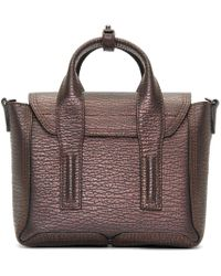 3.1 Phillip Lim | Black And Bronze Mini Pashli Satchel | Lyst