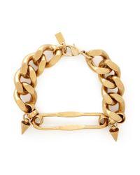 Ela Stone | Metallic 'naomie' Spike Chain Bracelet | Lyst