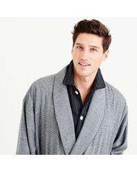 J.Crew   Gray Glen Plaid Flannel Robe for Men   Lyst