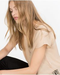 Zara | Natural Camisole Top | Lyst