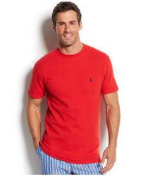Polo Ralph Lauren | Red Waffle-knit Thermal Crew-neck T-shirt for Men | Lyst