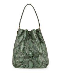 Stella McCartney - Green Faux-snake Hobo Bag - Lyst