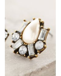 Anthropologie | White Pearldrop Cluster Posts | Lyst