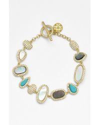 Freida Rothman | Metallic 'femme' Toggle Bracelet | Lyst