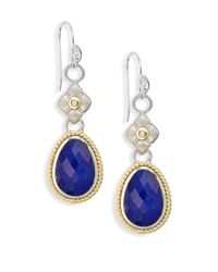 Jude Frances | Blue Barcelona Lapis & White Topaz Doublet & Diamond Layered Drop Earrings | Lyst