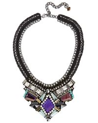 Nocturne | Black Azia Crystal Embellished Necklace | Lyst