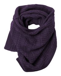Toast | Purple Merino Textured Tube Scarf | Lyst