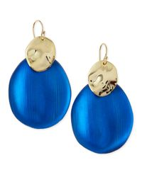 Alexis Bittar - Blue Liquid Chip Wire Lucite Earrings (Made To Order) - Lyst