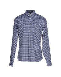 Prada - Blue Shirt for Men - Lyst