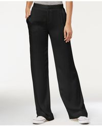 RACHEL Rachel Roy - Black High-rise Wide-leg Pants - Lyst
