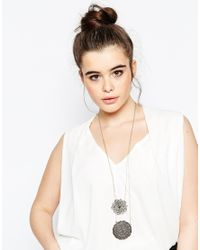 ASOS - Metallic Curve Filigree Multirow Necklace - Lyst