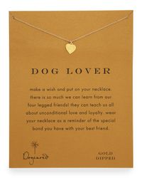 Dogeared | Gray Dog Lover Silver Necklace | Lyst