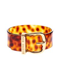 Ted Baker | Metallic Brodie Wide Belt Buckle Bangle | Lyst