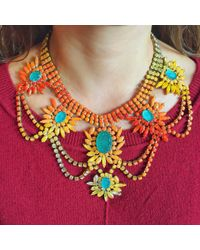 Doloris Petunia | Multicolor Martinique Statement Necklace | Lyst