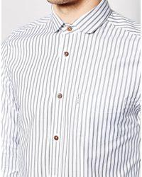 Ben Sherman | White Long Sleeve Bengal Stripe Shirt for Men | Lyst