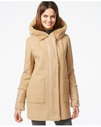 DKNY | Natural Faux-shearling Jacket | Lyst